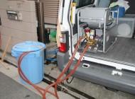 薬剤を撒くための動力噴霧器