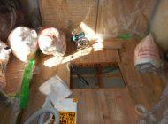 1F天井裏 断熱材回収・清掃
